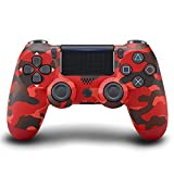GLIANG Für Ps4 Controller ,Bluetooth Wireless Controller Für PS4 / PS4 Pro / PS4 Slie/Playstation 4 Mit Doppelter Vibration,Rosso Mimetico