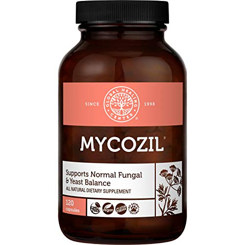 Global Healing Mycozil - Vegan Supplement Supports Detoxification for Natural Candida Cleanse, Encourages Gut and Vaginal Health and Rids of Harmful Organisms & Overgrowth, Women & Men - 120 Capsules
