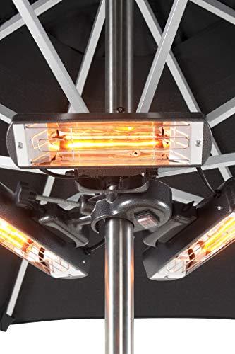 Slimline Super Parasol Heater IPX3, Halogen Elements, 800/1600/2400W