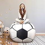 THEE Bolsa de Lona Organizador de Almacenamiento para Juegos de Peluche de Animales Bean Bag (38', Fútbol)