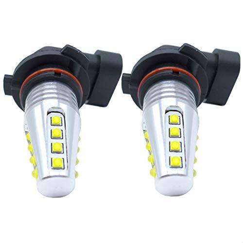 MAMINGGANG MMGANG 2 unids H7 H11 H8 HB4 9006 HB3 9005 LED Fog Bombilla DE LUZ DE LA LUZ DE LA LUZ DE LA LUZ DE LA LÁMPARA DE DRL 2000LM 6000K Blanco (Socket Type : H7)