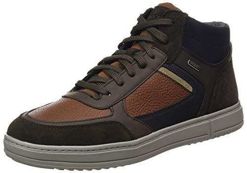 GEOX U LEVICO B ABX C BROWNCOTTO/DK COFFEE Men's Trainers Hi-Top Trainers size 42(EU)
