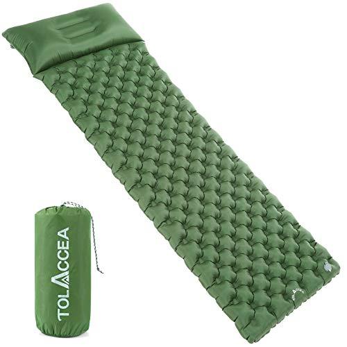 Tolaccea Isomatte aufblasbar Sleeping Pad Camping Luftmatratze aufblasbare Isomatte Camping Isomatte Isomatte Ultraleicht Isomatte Doppelschicht Anti-Leck