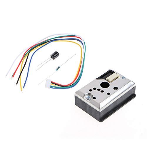 BIlinli GP2Y1014AU0F Ersetzen Sie den optischen Staubsensor PM2.5 + Widerstandskondensator GP2Y1010AU0F