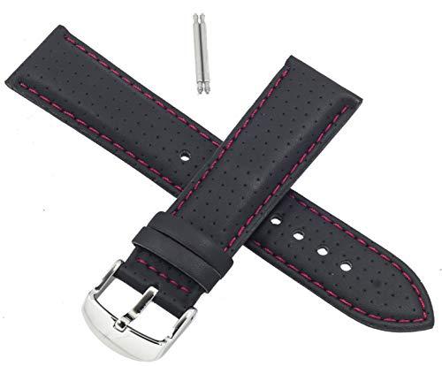 Casio 10271015 - Correa de reloj para EF-321L EF 321L EF 321 (piel), color negro