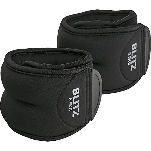 Blitz Ankle, Pesi Unisex-Adulto, Nero, 2 x 1 kg