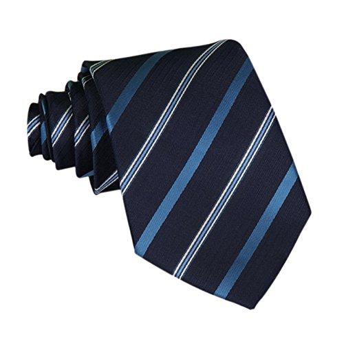 Demarkt Cravate Homme Mince à Rayure de cmPour Soirée Mariage (BL)
