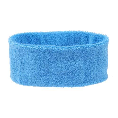 LIOOBO Sport Yoga Zweetbandjes Spa Gezichtshoofdband Make-up Wrap Hoofd Terry Doek Hoofdband Verstelbare Handdoek (Hemelsblauw)