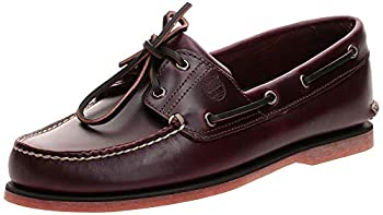 Timberland mens 2-eye Boat loafers shoes Rootbeer/Brown 9.5 Wide US