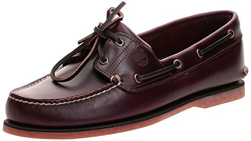 Timberland Men's Classic 2-Eye Boat Shoe, Rootbeer/Brown, 8 M