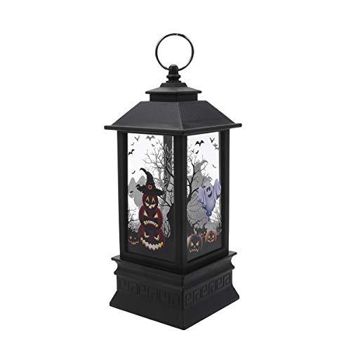Abaodam Simulación Kerosene Lámpara Halloween Decorativa Calabaza Patrón Linterna Portátil Vela Luz Partido Props Tamaño Grande Sin Batería
