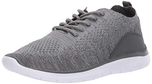 Amazon Essentials Men's Knit Athletic Sneaker, Grey, 8.5 M US