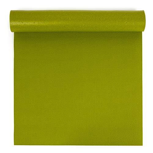 Yoga Studio Oeko Tex - Tappetino da yoga lungo e largo (80 x 200 x 0,45 cm), colore: verde avocado