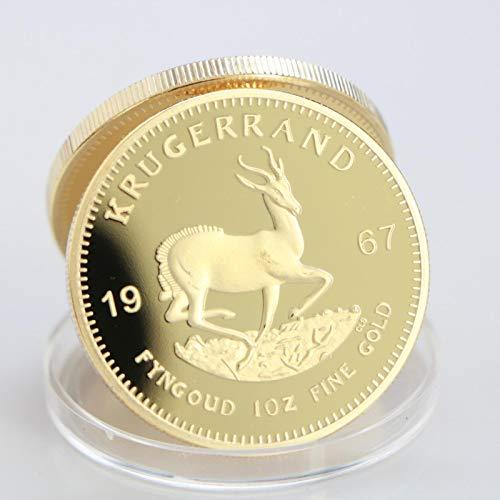 1967 Sudáfrica, Arabia Saudita, África Krugerrand 1OZ Moneda de Oro Paul Kruger Token Value Collectible Coin