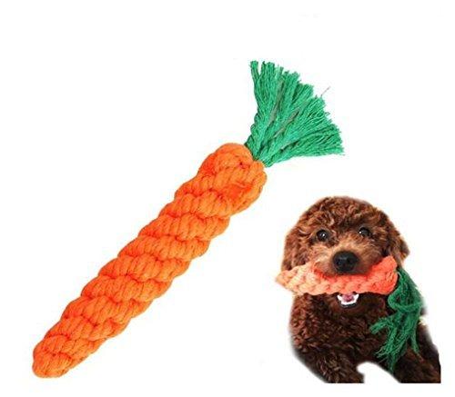 Giocattoli del cane Pet cotone masticazione corda giocattolo dentale denti Teaser Cleanning per piccolo cane Puppy mordere paglia carota by Leayao