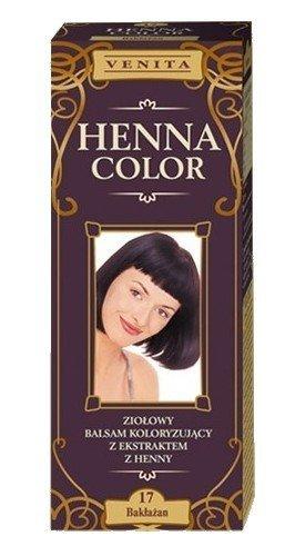 Henna Color 17 Aubergine Haarbalsam Haarfarbe Farbeffekt Naturhaarfärbemittel Henne Öko