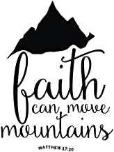 """Faith can move mountains: Bible Verse Quote Weekly Daily Monthly Planner 2018  8.5"""" x 11"""" Calendar Schedule Organizer (Jou..."""