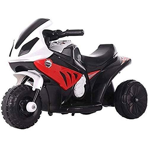 ZHANGL Coche eléctrico Motocicletas Puede asentar Personas Que Puedan Cargar 6V Motocicleta para niños, iluminación LED Triciclo eléctrico para niños, Niño y niña Diferente eléctrico (Color : Rojo)