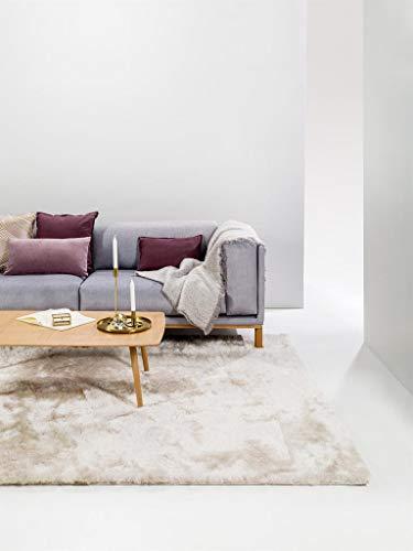 benuta Shaggy Hochflor Teppich Whisper Beige 140x200 cm | Langflor Teppich für Schlafzimmer und Wohnzimmer