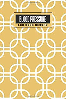 Blood Pressure Log Book Record: 2 year 104 Weeks of Daily Readings | 4 Readings a Day with Time, Blood Pressure, Heart Rate, Weight & Comment Notes (Gold Geometric)