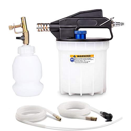 Abilly Vacuum Brake Bleeder Air Brake Bleeder Kit with 2L Brake Fluid Extractor and 1L Refilling Bottle, Pneumatic Vacuum Bleeder Tool Kit for Auto Car Truck Use