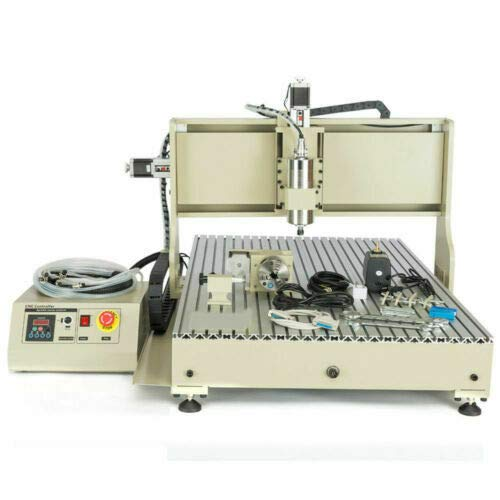 DNYSYSJ 2200W CNC Router Engraver, 6090 4Axis USB Engraving Drilling Milling Carving Machine 3D Carving Desktop Machine DIY Artwork Woodworking