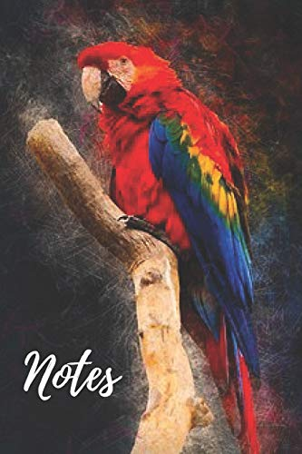 Parrot Notebook: cute parrots gift for bird and animal lovers (blank lined notebook) pets notepad for women / best for writing notes and ideas for home use, work or as a school homework book / journal for journaling / parrot journal