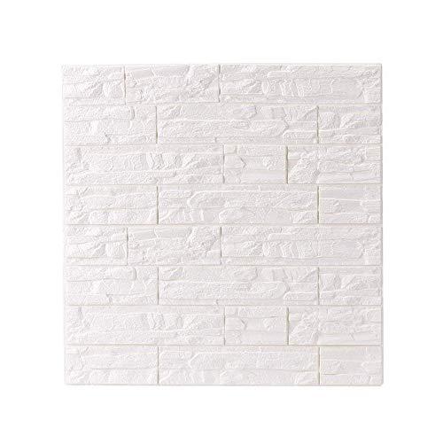 FAMILIZO PE de espuma de 3D Wallpaper DIY Pared Pegatinas Decoración de Pared en relieve Piedra de Ladrillo Pegatinas de Pared Decoraciones (60_x_60_cm, A)