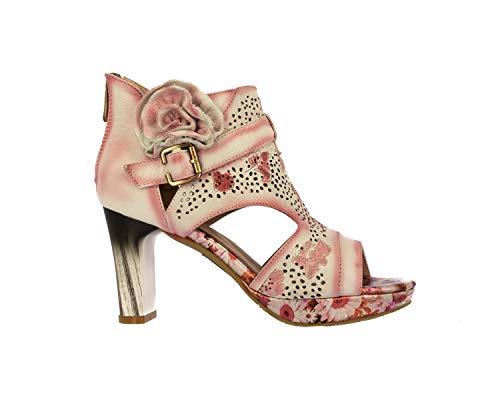 Laura Vita HECO03Plata Zapatos de mujer cuero Sandalias 37, Beige (beige), 37 EU