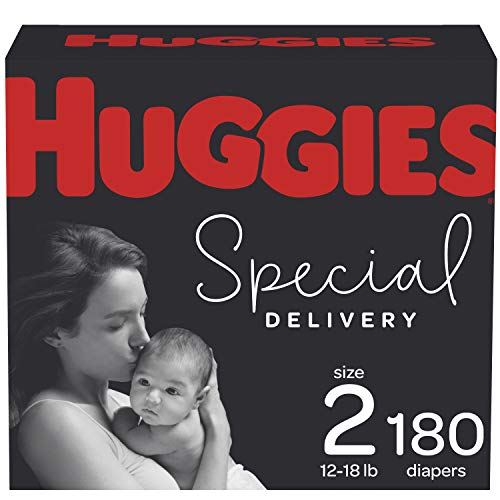 Diapers Size 2 - Huggies Special Delivery Hypoallergenic Disposable Baby Diapers, 180ct,...
