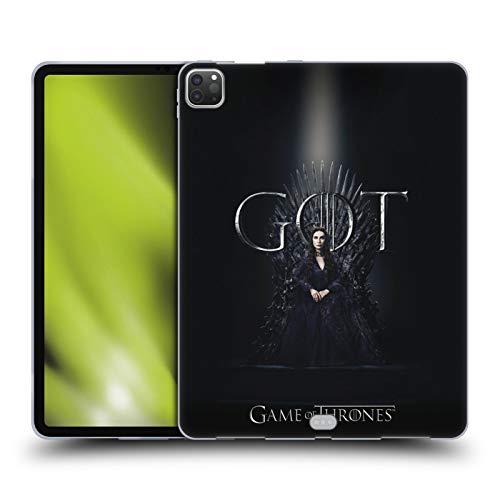 Head Case Designs Officieel Gelicentieerd HBO Game of Thrones Melisandre Seizoen 8 Voor De Troon 2 Soft Gel Case compatibel met Apple iPad Pro 12.9 (2020/2021)