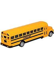Gadpiparty 1:24 Modelo de Autobús Escolar Juguete Pull Back Car Toy Vehículo Amarillo Jugar Juguete 1:24 Miniatura Die Cast Bus Car para Niños Niños