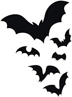 Applicable Pun Flock of Bats Flying Through The Night Colony Frightening - Vinyl Decal for Outdoor Use on Cars, ATV, Boats, Windows and More - Black 6 inch