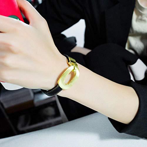 XCLXJ Europese en Amerikaanse Stijl Multi-Layer Armband PU Lederen Gevlochten Ketting Dames Hals Ketting Mannen en Vrouwen Sieraden