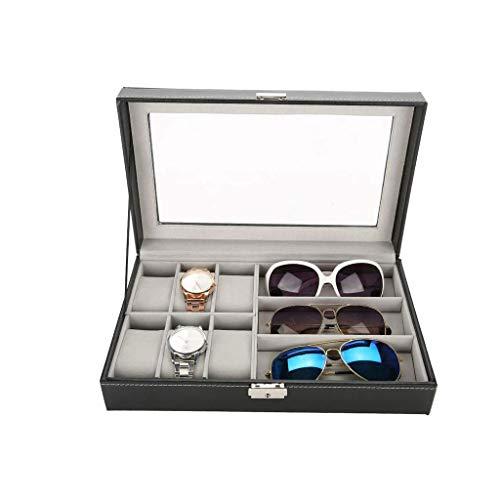 XYZMDJ Box-Reloj de la joyería Caja Hombres Mujeres Visualización de Cuero Caja de la joyería de Almacenamiento Colección Organizador con