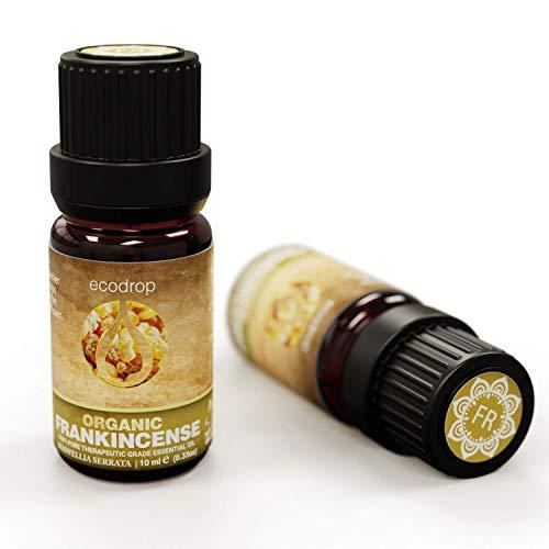 Weihrauchöl, COSMOS-Biozertifizierung, 100% rein, bester therapeutischer Grad für Aromatherapie, Massage, Diffuser und Bad - 10 ml (Boswellia serrata)