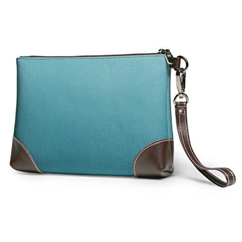 Hdadwy Weiche wasserdichte Clutch Taschen Scrapbooking Textur Papier Scrapbook Damen Leder Wristlet Brieftasche mit Reißverschluss für Frauen Mädchen
