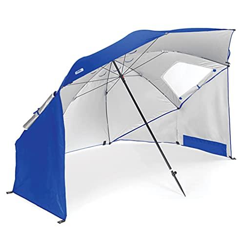 KTops Sombrilla portátil para Carpa de Playa Refugio de Sol para Carpa de Playa Multiusos con 2 Ventanas enrollables de Malla Protección UPF 50 + UV Fácil instalación de Plegado para Camping