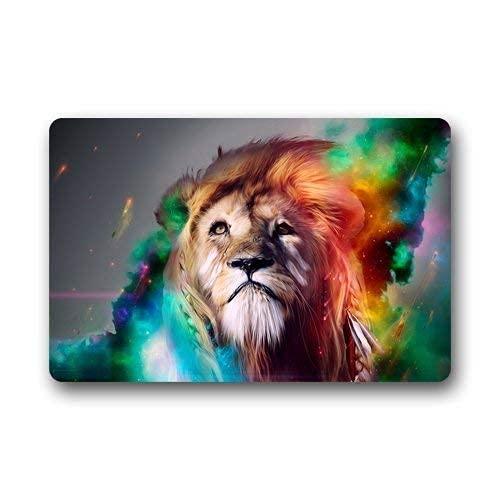 Alfombra para Puerta, Alfombrillas para Exteriores, felpudos Scottshop Personalize Custom Painted Lion Creative Felpudo & Pound; & Not; Cuarto de baño, 40 x 60 cm