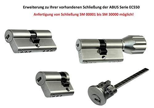 ABUS Profilzylinder, Knaufzylinder, Halbzylinder, Aussenzylinder als Erweiterung für vorhandene Schließungen der Serie EC 550 (für Schließungsnummer von SM00001 bis SM30000) (ABUS Mehrschlüssel)