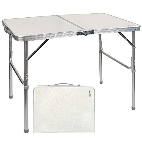 Aktive 52862 - Mesa plegable camping, playa, mesa multifuncional de aluminio, con...