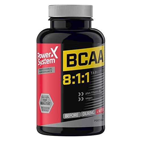 Power System BCAA Tabs - 120 Aminos - hochdosiert 8:1:1 Tabletten vegan