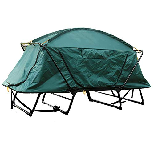 YASE-king Double Mountain Camping Free Multi-function Double-decker Fishing Built Off-ground Tent Bed Camouflage Wilderness Adventure Windproof Waterproof Picnic Cold-proof Warm Mountaineering Fishing