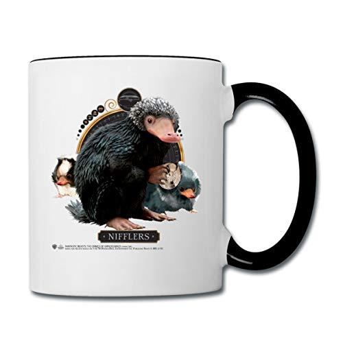 Phantastische Tierwesen Nifflers Tasse Tasse zweifarbig, Weiß/Schwarz