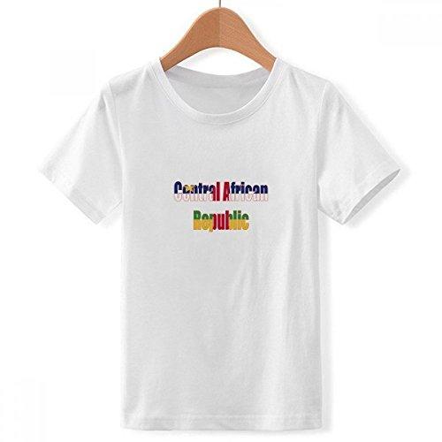 DIYthinker Nombre del país de la Bandera de Cuello Redondo de áfrica Central Camiseta para Chico Multicolor Grande