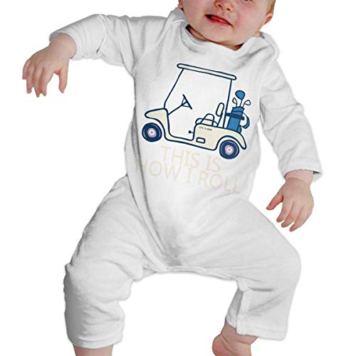 Moniery This is How I Roll Golf Cart Long Sleeve Romper Bodysuit for Baby Unisex