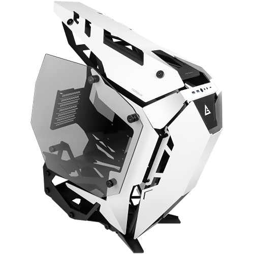 Antec Torque Mid Tower Aluminum Gaming Cabinet I Computer Case I Support E-ATX, ATX, Micro-ATX, ITX Motherboard with Tempered Glass (Both Sides) – Black White