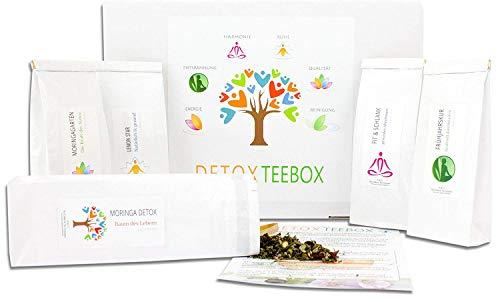 C&T Detox Tee Geschenkset | 5 x 50 g Tees zum Abnehmen & Entgiften + Infoblatt | Teebox perfekt für Diät, Fasten & Entschlacken | Entschlackungstee mit reinigender Wirkung