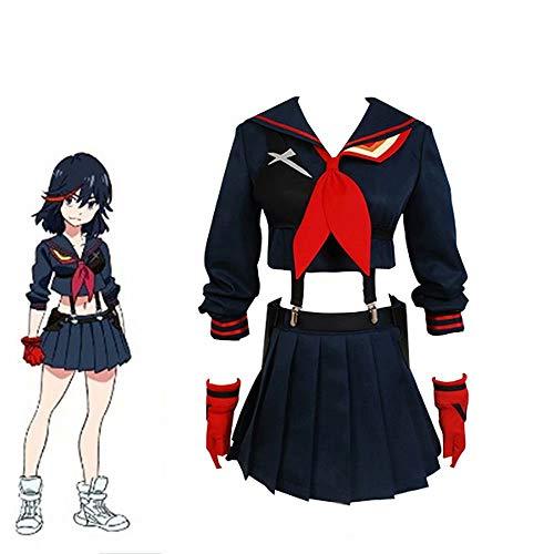 LuBHnna Kill La Kill Ryuuko Matoi Cosplay Kostüm Frauen Anime Cosplay Japanische Schuluniform Seemann Kostüm Komplettset