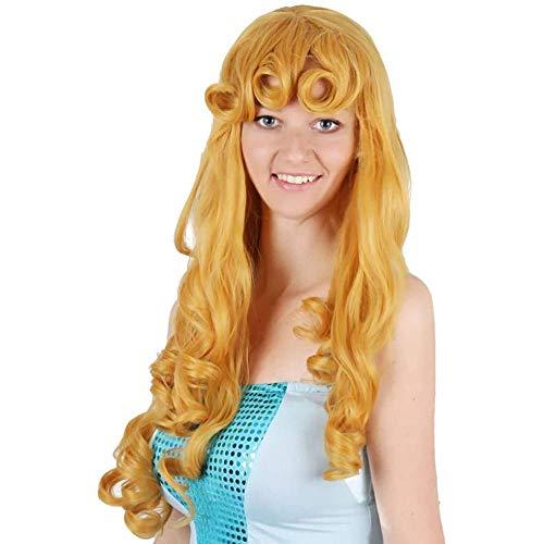 Peluca, Princesa Larga Y Ondulada Pelucas De Cabello Ondulado Disfraz De Halloween Marrón Anime Peluca Disfraz Peluca Para Mujeres Adultas Fiesta Peluca Sintética